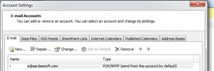 configure email account on outlook