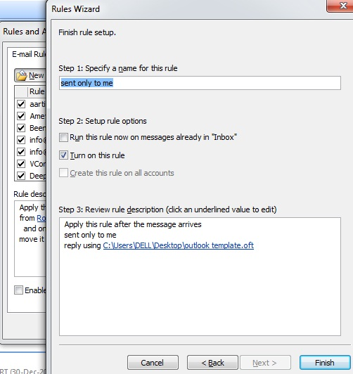 create auto reply email in outlook