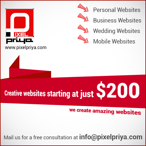 website designing advert