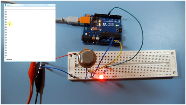 LPG gas sensor easily with Arduino10