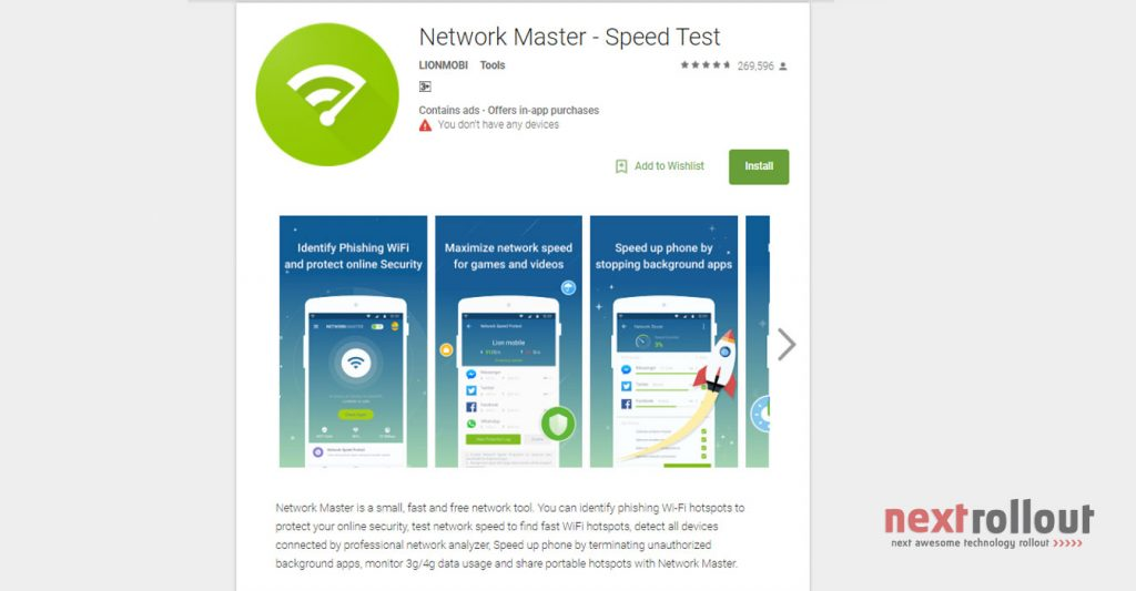 Network Master Speed Test App for Network Signal booster for  Android