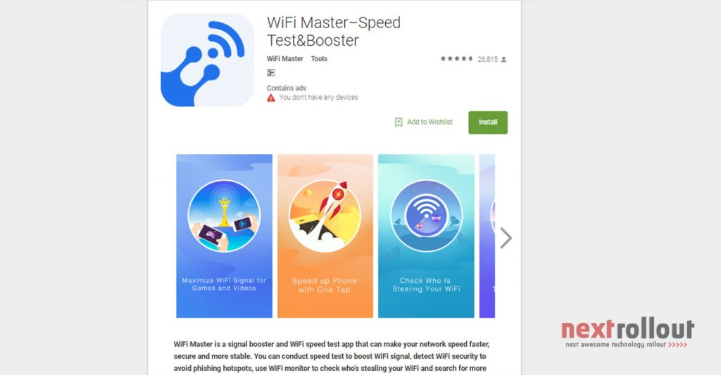 Speed Up Your Mobile Network With WiFi Master Speed Test Booster Nextrollout