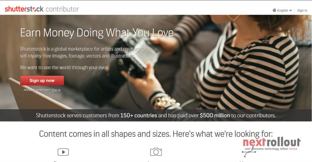 Make Money From Photography with Shutterstock